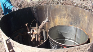 charcoal kiln 3 55 gallon drum