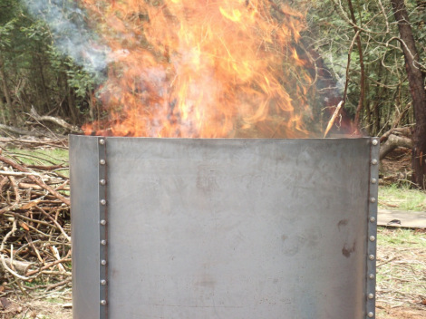 portable charcoal making kiln
